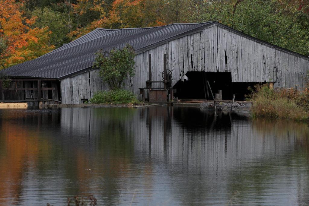 Mill pond at Garland Mill Timberframes